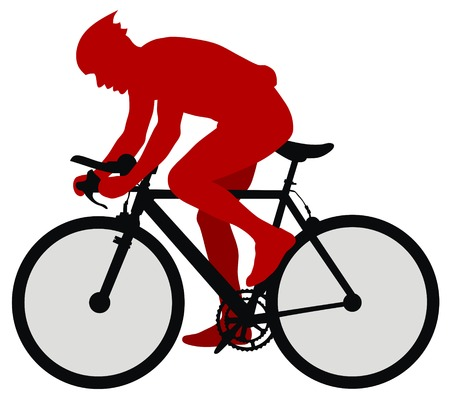 bicyclists: Abstract vector illustration of bicyclist Illustration