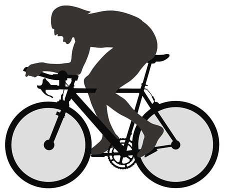 Abstract vector illustration of bicyclist Ilustrace
