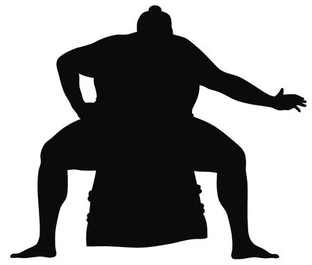 Abstract vector illustration of sumo wrestler