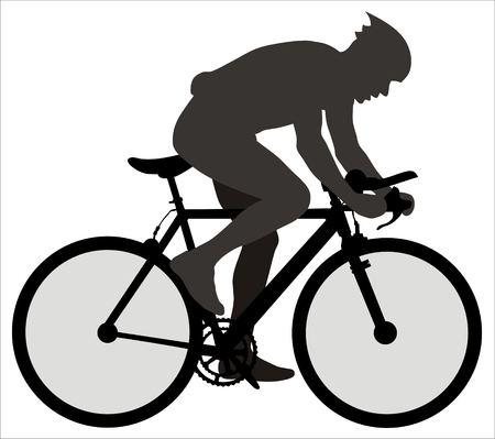 cyclist silhouette: Abstract vector illustration of bicyclist Illustration
