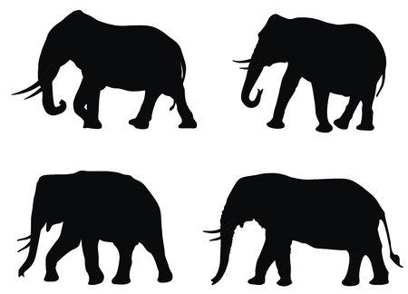 serengeti: Abstract illistration of elephants silhouettes