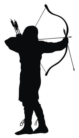 boogschutter: Abstract vector illustratie van het oude boogschutter silhouetten