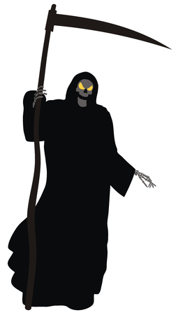 Abstract illustration of Grim Reaper Vector