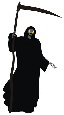 reaper: Abstract vector illustration von Grim Reaper Illustration
