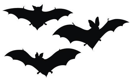 Illustrazione vettoriale Abstract di pipistrelli silhouette