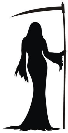 reaper: Abstrakte Vektor-Abbildung von sexy Grim Reaper Illustration