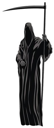 reaper: Abstract Vector Illustration der Sensenmann