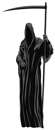 Abstract vector illustration of Grim Reaper Vector