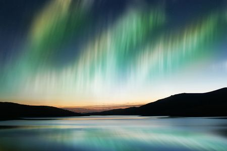 the aurora: Aurora Borealis or Northern Lights