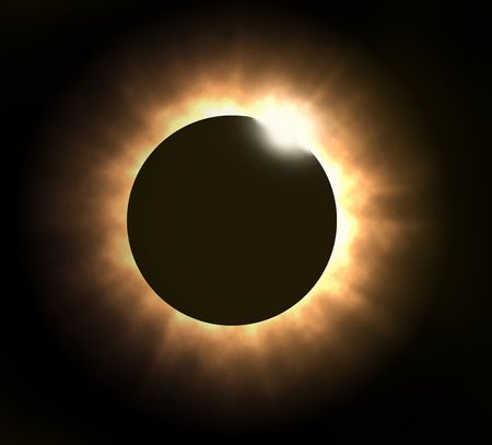 total: Illustration of totol solar eclipse