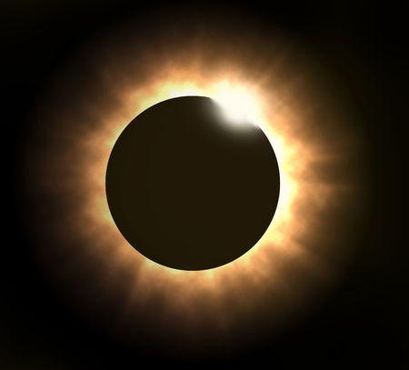 合計: Totol 皆既日食の図 写真素材