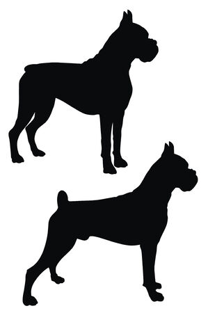 Abstract vector illustration of dog silhouette Vector