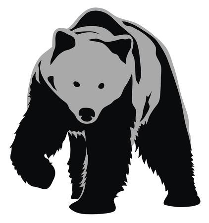 predators: Abstract vector illustration of bear Illustration