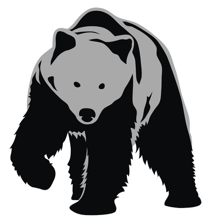 bear silhouette: Abstract vector illustration of bear Illustration