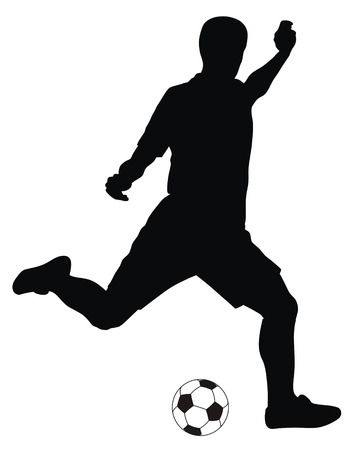 Abstract vector illustration of footbal player silhouette Stock Vector - 6574881