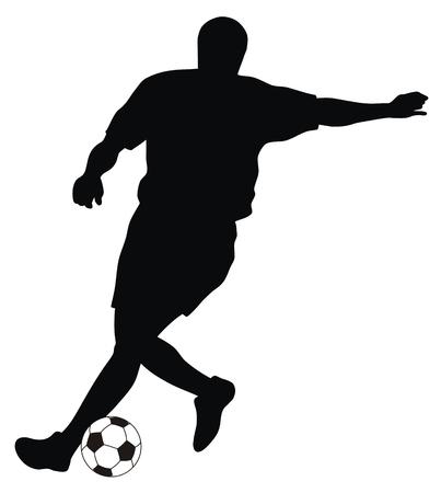 voetbal silhouet: Abstracte vector afbeelding van footbal speler silhouet
