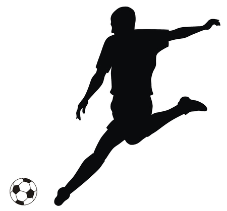 football players: Abstract vector illustration of footbal player silhouette