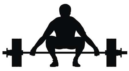 weightlifting: Abstract vector illustration of weight lifter athlete