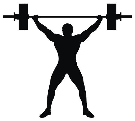 levantamiento de pesas: Ilustraci�n vectorial abstracta de atleta de levantadores de peso Vectores