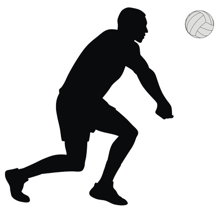 matches: Abstract vector illustration of volleyball player Illustration