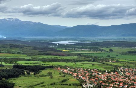 Panorama view of landscape in south Bulgaria near to Kazanlak town Stock Photo - 7728817