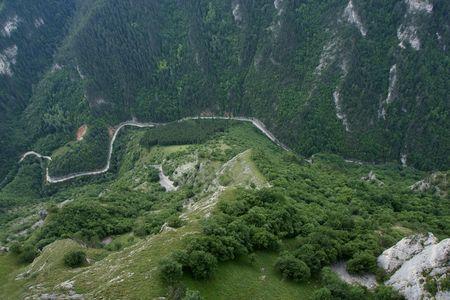 Vogels eye view van Rodopi berg  Stockfoto