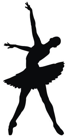 Abstract vector illustration of dancing ballerina