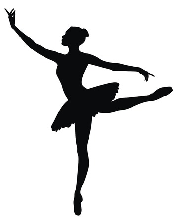 t�nzer silhouette: Abstract Vector Illustration der tanzende ballerina