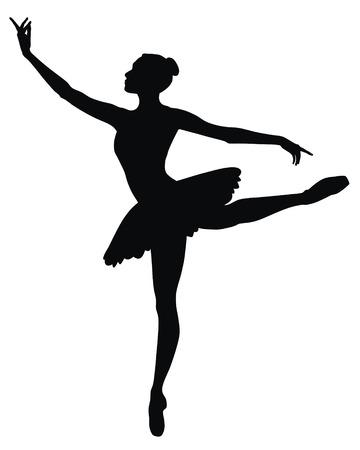 bailarines silueta: Ilustraci�n vectorial abstracta de bailarina de danza