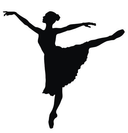 bailarines silueta: Ilustraci�n vectorial abstracta de bailarina de danza  Vectores
