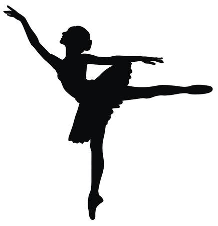 ballett: Abstract Vector Illustration of tanzende ballerina