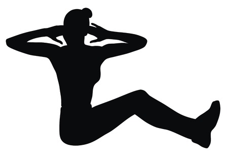 Vector illustration of fitness exercises woman Vector