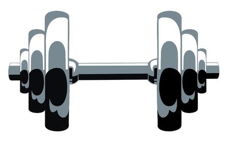 bicep: Iilustration de vector abstracta de pesas  Vectores