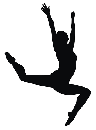 Abstract illustration of gymnast silhouette