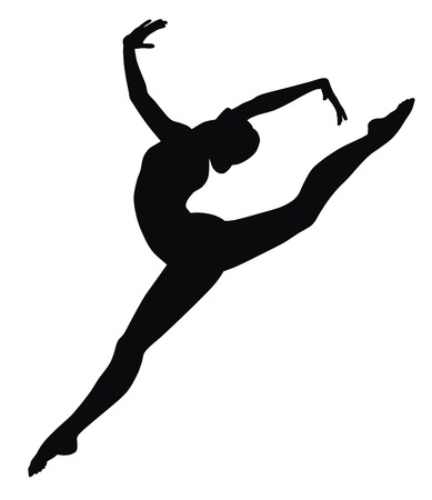 gymnastik: Abstract Vecror Illustration von gymnastic