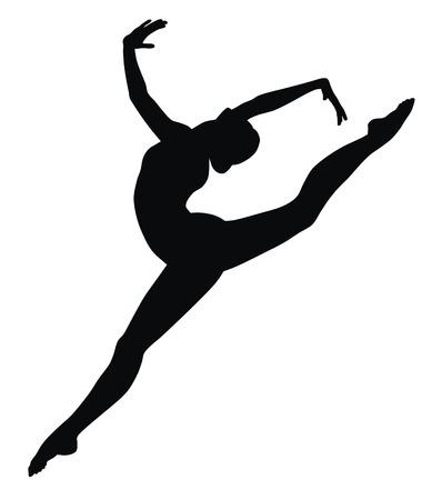 gymnastics: Ilustraci�n vecror abstracta de Gimnasia