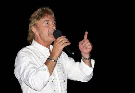 ex: SVISHTOV, BULGARIA - SEPTEMBER 25, 2010: Concert of John Lawton - ex vocal of Uriah Heep.