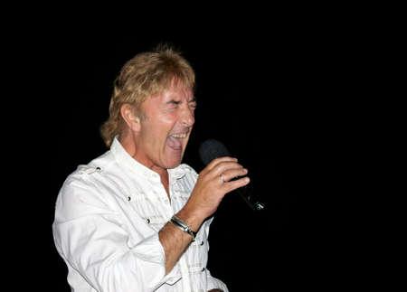 ex: SVISHTOV, BULGARIA - SEPTEMBER 25: Concert of John Lawton - ex vocal of Uriah Heep. September 25, 2010 in Svishtov, Bulgaria.