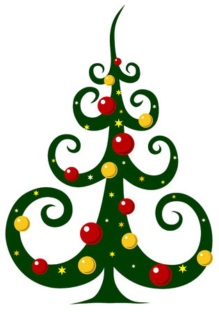 christmas tree illustration: Abstract illustration of christmas tree Illustration