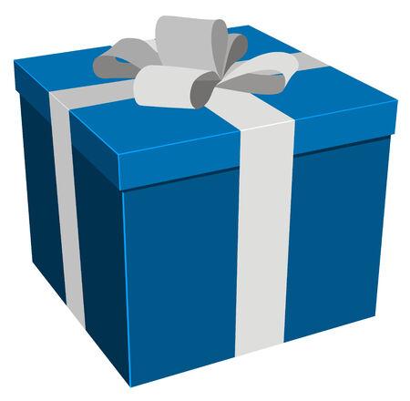 illustration of christmasbirthday gift