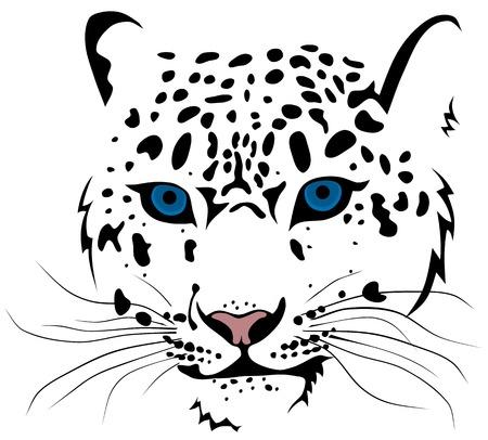 puma: Abstract vector illustration delle barre di leopardo delle nevi Vettoriali