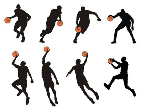 Abstract vector illustration of basketball player