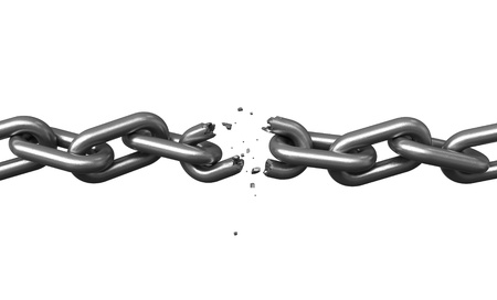 3d render of metal chains over black background