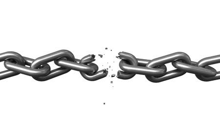 cadenas: render 3D de cadenas de metales sobre fondo negro
