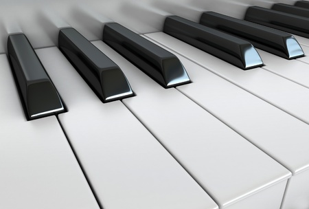 keyboard keys: 3d render of piano keys