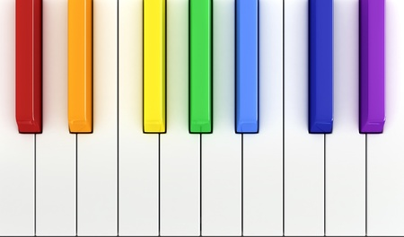 3d render of piano keys