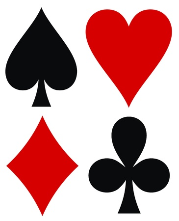 Vector illustration of cards color