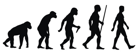 Abstract vector illustration of an evolution line  イラスト・ベクター素材