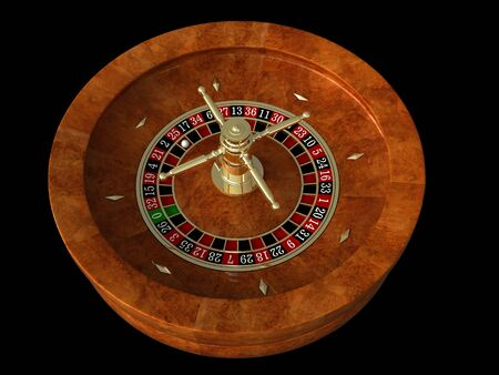 3d render of casino roulette over black background Stock Photo - 9861041