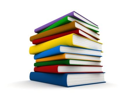 libros: render 3D de una pila de libros Foto de archivo